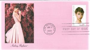 #3786 Audrey Hepburn Fleetwood FDC