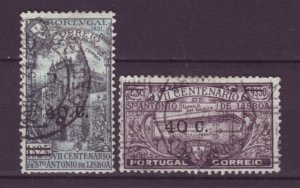 J22061 Jlstamps 1933 portugal hv,s of set used #547-8 ovpt,s