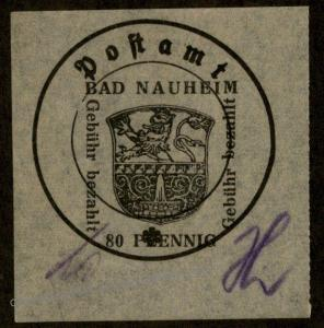 Germany 1945 Locals Bad Nauheim 4IIx Exp Sturm Bohne GPSY 87038