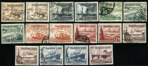 GERMANY #B107-B115 Deutsches Reich Stamps Postage Boats Collection USED MLH
