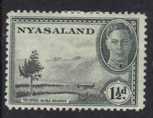 Nyasaland 1945  MH  George  VI   1 1/2 d     #