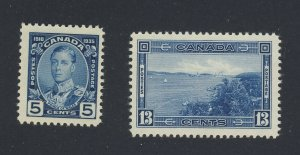 2x Canada stamps #214-5c MNH F/VF & #242-13c Halifax MH VF Guide Value = $26.00