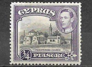 Cyprus Stamp Scott #145 Peristerona Church King George VI 3/4 Piastre Mint