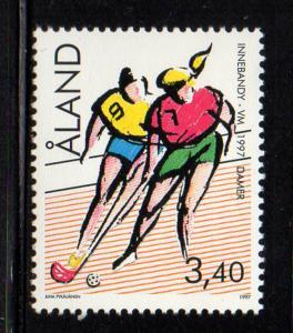Aland Sc  134 1997 Floorball stamp mint NH
