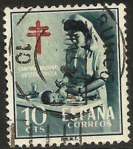 Spain Postal Tax 1953 Scott# RA35 Used
