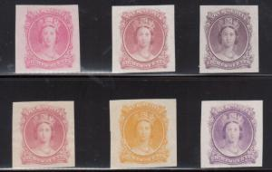 Nova Scotia #11DP Extra Fine Set Of Six Trade Sample Proofs In Different Colors