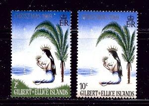 Gilbert and Ellice 157-58 MNH 1967 Christmas    (ap5490)