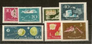 Hungary 1959 Geographical Yr SG1552-1558 MNH