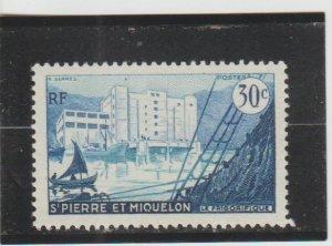 St. Pierre & Miquelon  Scott#  346  MH  (1956 Fish Freezing Plant)