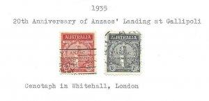 Australia #150 and 151 Used VF
