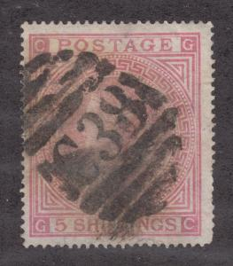 Great Britain SG Z56 used. Bold C38 barred oval cancel of Callao, Peru.