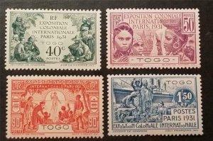 TOGO 1931 Colonial Exposition Issue Scott 254-257 Set MH OG Stamp Lot T455