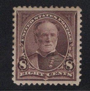 MINT US Stamp Scott #272 8c Violet Brown Sherman MINT Previously Hinged SCV $70