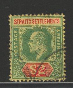 Straits Settlements 1909 King Edward VII $2 Scott # 126 Used