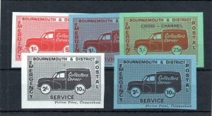 1971 POSTAL STRIKE: BOURNEMOUTH & DISTRICT 1/- - 5/- UNMOUNTED MINT