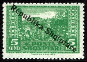 Albania #180  MOG - Kanina Overprinted (1925)