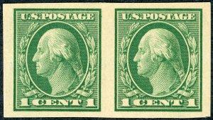 #408 – 1912 1c Washington, green. MLH OG