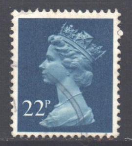 GB 1971 Machin 22p Blue used