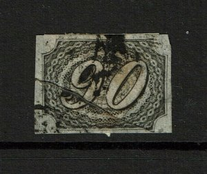 Brazil SC# 10, Used, diagonal crease, Hinge/Page Remnants - S11124
