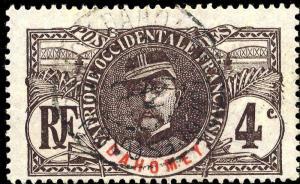 DAHOMEY - 1911 - CACHET À DATE DE PORTO-NOVO SUR 4c FAIDHERBE