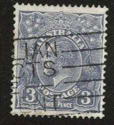 AUSTRALIA Scott 30 used Ultra 1924 wmk9