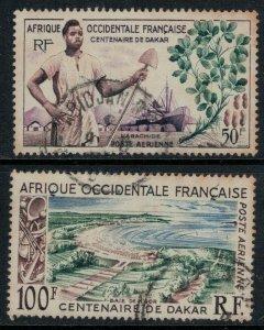 French West Africa #C26-7  CV $4.00