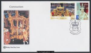 09-Apr-2013 Australia QE2 Diamond Jubilee Coronation Wesley First Day Cover