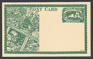 GB WONDERLAND Gerald King SNARK ISLAND fantasy postcard.....................R261