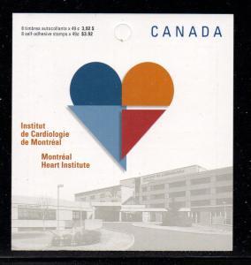 Canada Sc 2056a 2004 Heart Institute stamp bklt mint NH