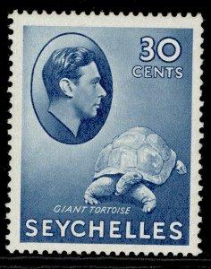SEYCHELLES GVI SG142ab, 30c blue, M MINT.