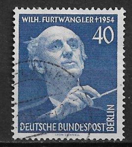 1955 Berlin 9N115  Wilhelm Furtwangler used SCV$21.00