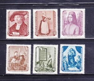 Germany DDR 272-277 Set MH Art, Paintings