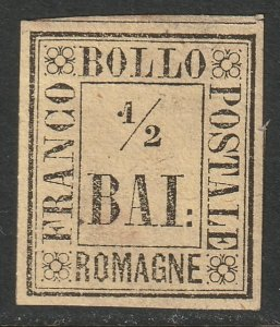 Italy Romagna Sc 1 MH forgery possibly Fournier