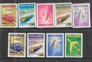 Paraguay #572-576,C274-C277 set complete (U&MNH) CV$6.75