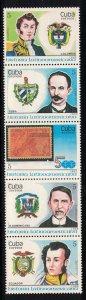 CUBA Scott # 3069a-3084a   1988 Latin America History  mnh SCV $ 5.75