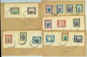 BK0310 - NORTH BORNEO  -  POSTAL HISTORY - Set of 5 COVERS 1947