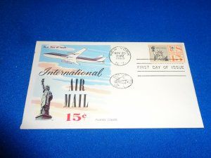 FLEUGEL MULTI COLORED CACHET FDC:  US SCOTT# C58