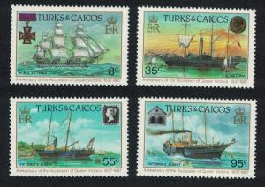 Turks and Caicos 150th Anniversary of Accession of Queen Victoria 4v SG#902-905