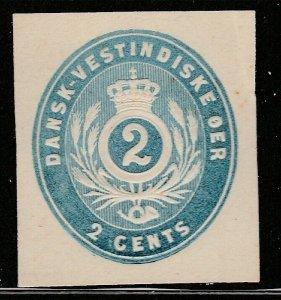 Danish West Indies Postal Envelope cut out A14P13F216