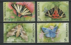 Moldova 2003 Butterflies 4 MNH stamps