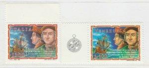 1998 Colombo Vespucci Congiunta Italia Venezuela 2 Valori Nuovi MNH** A20P6F246