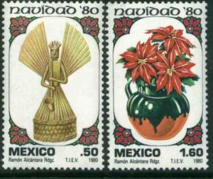 MEXICO 1217-1218 Christmas Holidays 1980 MINT, NH. VF.