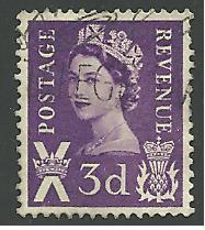 Great Britain - Scotland #1, Queen Elizabeth, Used**