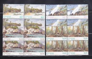 Christmas Island 350-353 Blocks Of 4 Set MNH Views