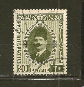 Egypt 142 King Fuad Used