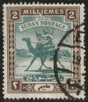 SUDAN Scott 18 used 1902 Camel Postage stamp
