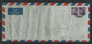 BAHRAIN  (PP2504B)  1951  KGVI  3A PR ON A/M COVER TO ENGLAND