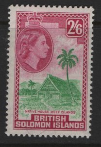BRITISH SOLOMON ISLANDS 102 MNH  NATIVE MEETING HOUSE  ISSUE
