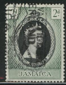 Jamaica Scott 153 used 1953 coronation stamp