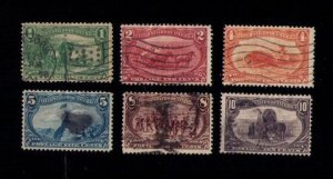US SCOTT #285-290 USED INCOMPLETE SET OF SIX F-VF